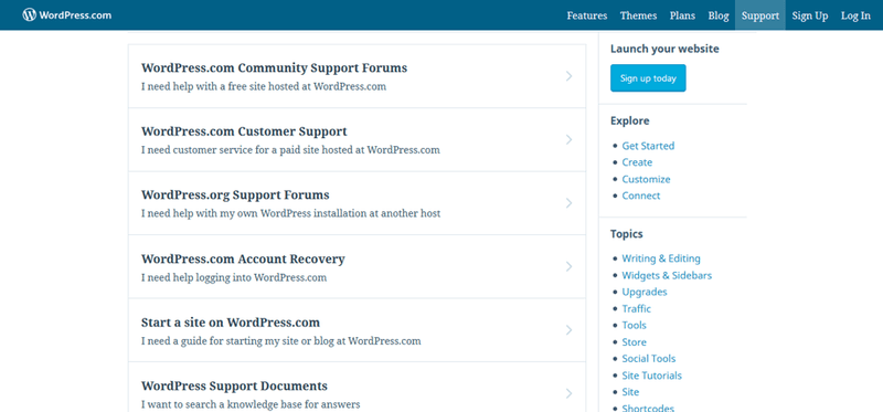 wordpress support community