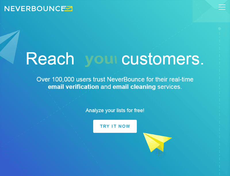 never bounce email verification